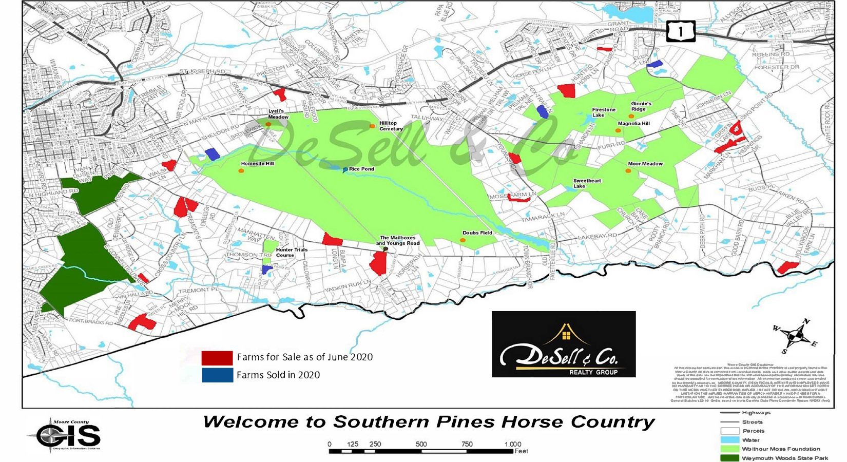 Horse Farms for Sale Moore County NC